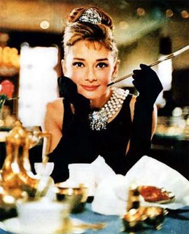 audrey black dress Audrey Hepburn